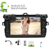 7'' Android 6.0 Car DVD Player FOR COROLLA In Dash 2 DIN Head Unit GPS Car Stereo Support WIFI OBD 3G/4G USB/SD CAM IN FM Radio