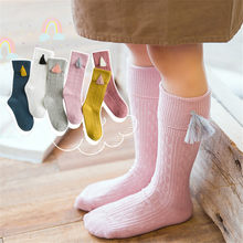Cute Baby Long Socks Children Soft Stockings Toddler Girls Knee Socks Solid Candy Color Foot Leg Warmer Cotton Warm Boot Sock(China)