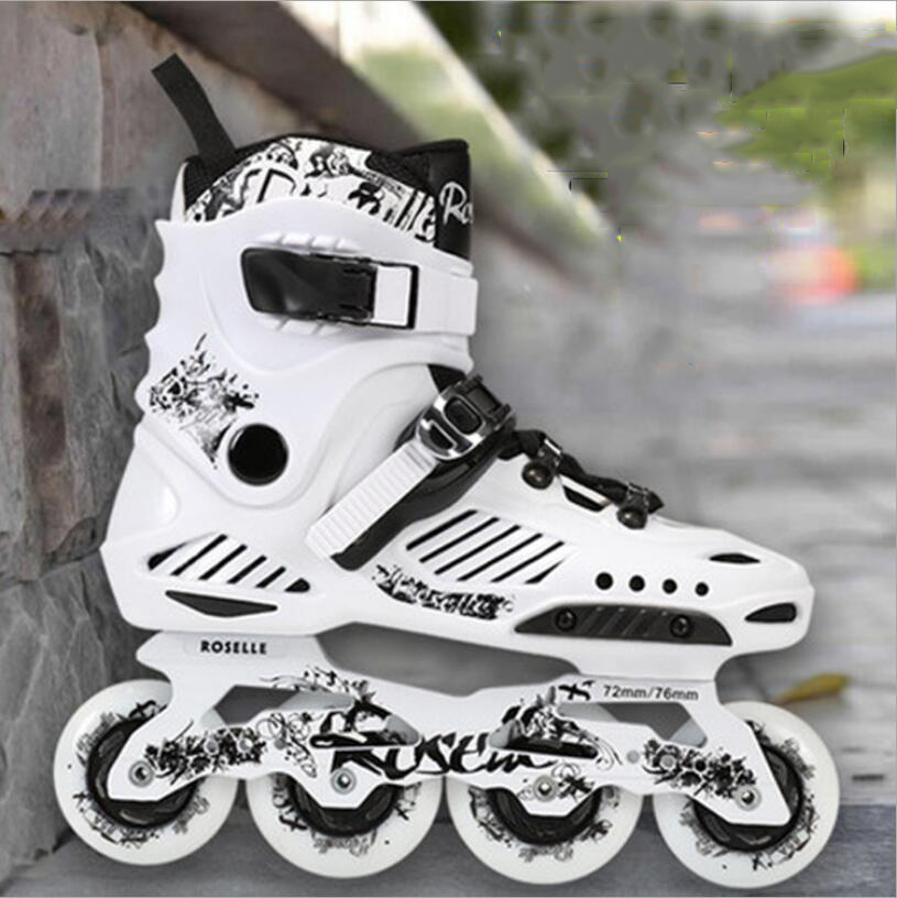 Slalom Recommend Adult Inline Skate Shoes for Young Man Girl Daily Street Brush Skating Roller Skates Shoes-in Skateboarding from Sports & Entertainment    1