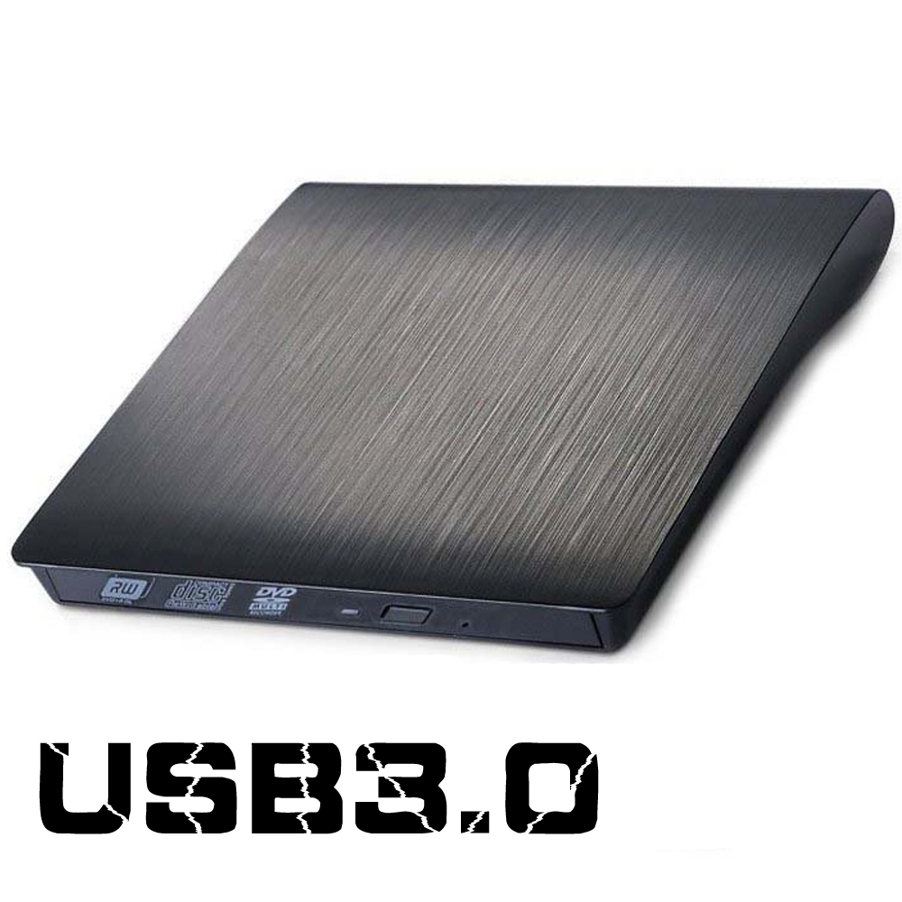 External USB 3.0 High Speed DL DVD RW Burner CD Writer Slim Portable Optical Drive