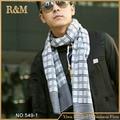 2016 bufandas a cuadros hombres invierno nueva marca bufanda a cuadros moda para hombre caliente acogedor larga algodón bufanda de la borla