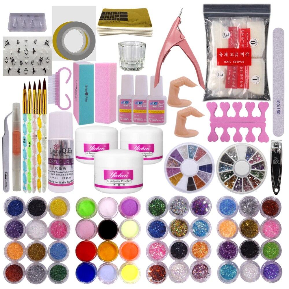 Acrylique Nail Art Pinceau Colle Glitter Bande Shimmering Poudre Hexagone Tranche Orteil Doigt Séparateur Tampon Bloc Déco Conseils