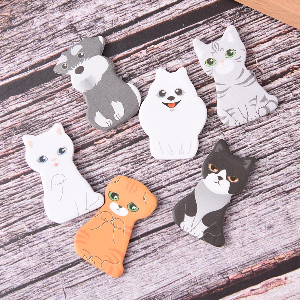 3D Cartoon Cat Dog Box Memo Pad Kawaii Scrapbooking Stickers Cute Korean Stationery Sticky Notes Office School Supplies