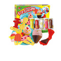 3D color DIY Playdough plasticine clay suit parent-child interactive toys ice cream set mold intelligent toys