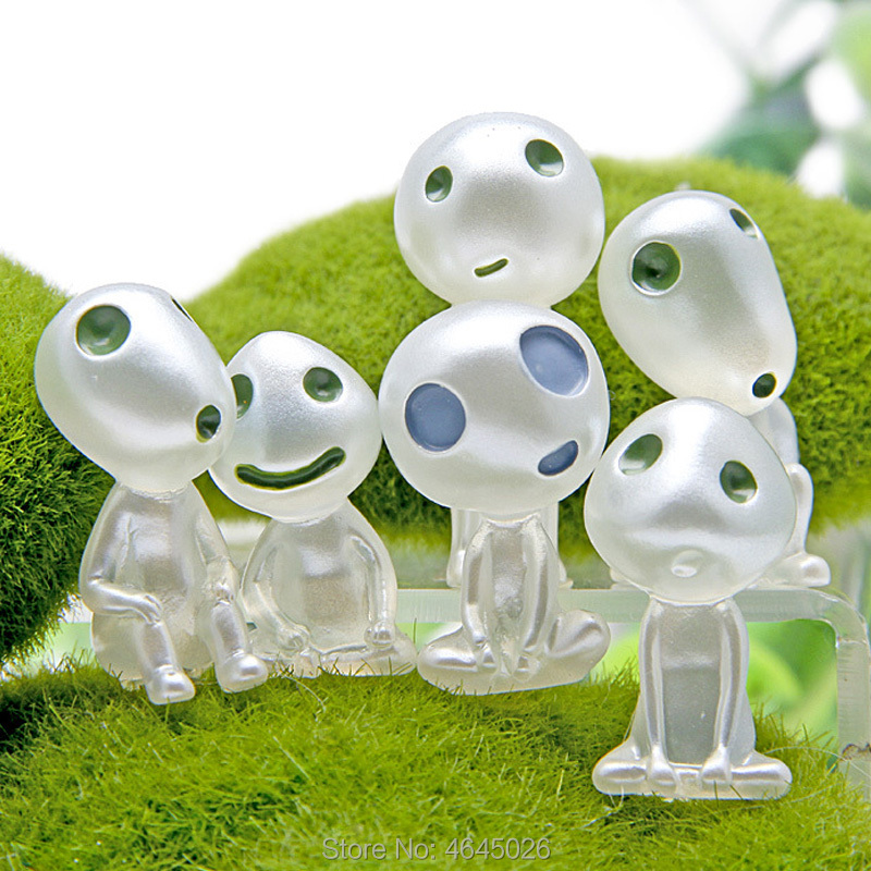 Image 4 - 5pcs Princess Mononoke Luminous Studio Ghibli Resin Action Figure Kodamas Glow in dark Figurines Elf Tree Dolls Model Kids Toys-in Action & Toy Figures from Toys & Hobbies