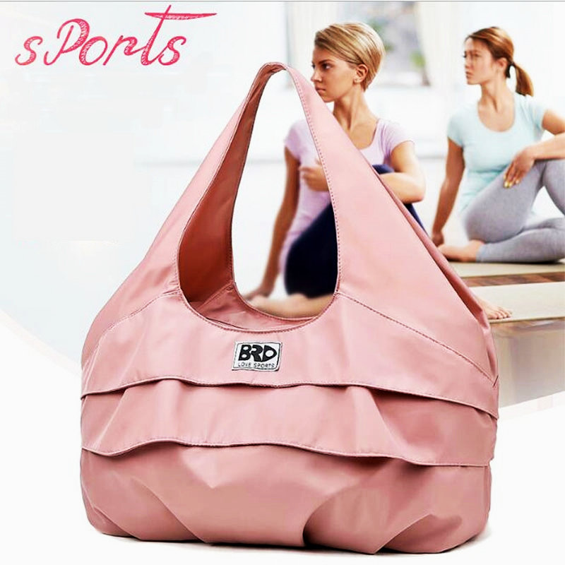 Women Pink Yoga Bags With Shoe Pocket Watrproof Travel Sport Gym Bags Lightweight Fitness Training Shoulder Bag Tas Sac De Sport