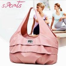 Women Pink Yoga Bags With Shoe Pocket Watrproof Travel Sport Gym Lightweight Fitness Training Shoulder Bag Tas Sac De
