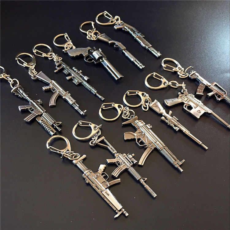 Ak47 amw arma chaveiros trítio metal cs go chaveiros para melhores amigos chaveiros llaveros para homem porta porte clef