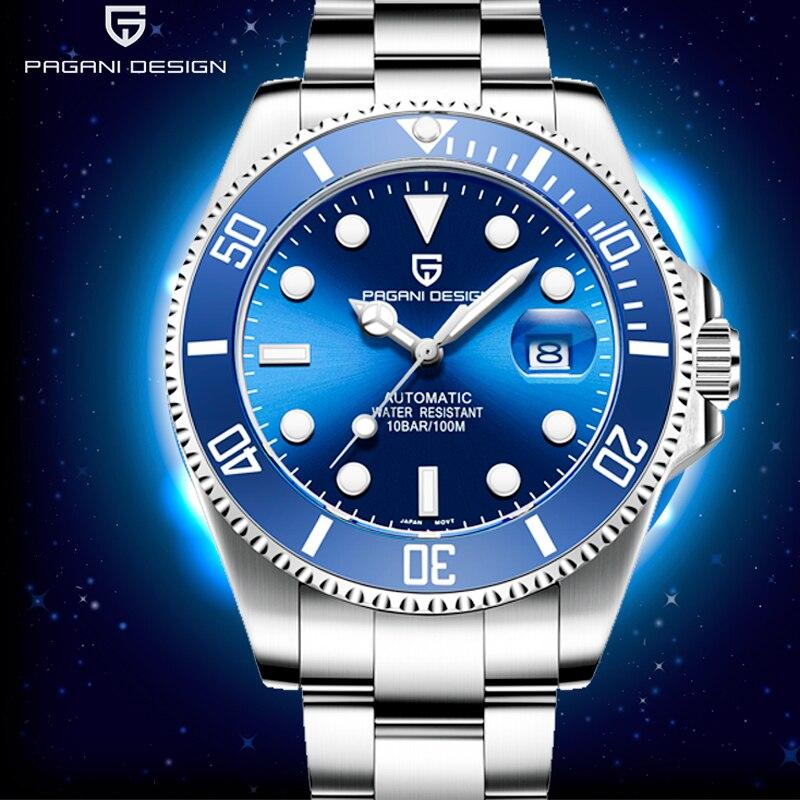 パガーニ 2019 新メンズ自動腕時計ビジネスステンレス鋼防水男性は高級ブランド男性機械式腕時計  グループ上の 腕時計 からの 機械式時計 の中 1