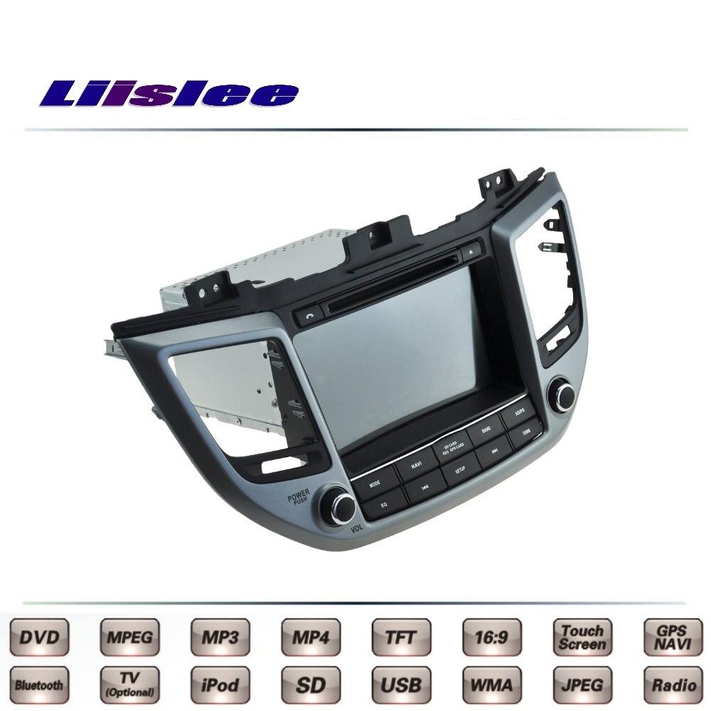 For Hyundai IX35 Hyundai Tucson ix 35 2015 2016 Car Multimedia TV DVD GPS Radio Original Style Navigation Liislee Advanced Navi цена