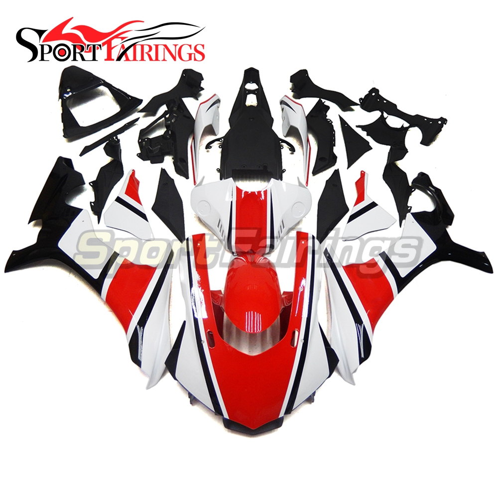 Complete Fairing Kits R1 2015 YZF R1 15 Injection Motorcycle Fairing Kit Cowlings Red Black Stripe