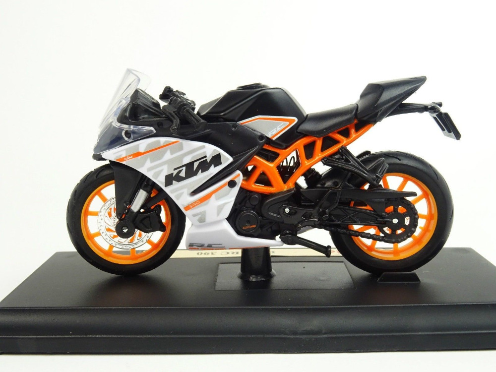 maisto 1 18 ktm rc 390 motorcycle bike diecast model toy new in box free shipping newest. Black Bedroom Furniture Sets. Home Design Ideas