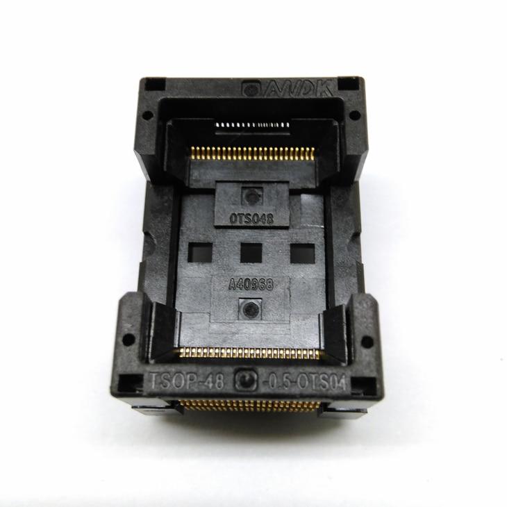 TSOP48 Standard Open Top Burn In Socket Pin Pitch 0.5mm IC Test Socket IC Size 12x18.4mm IC354-048-D31/35P Programmer Adapter