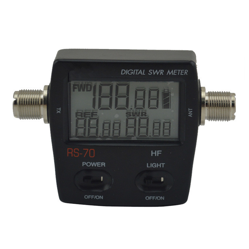 Professional RS70 Digital SWR Power Meter 1.6-60 Mhz HF 200W For 2 Way Radio High Accuracy M Type Connector Shortwave Meter