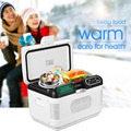 12L Mini Portable Dual-core Refrigeration Fridge Truck Car Home Cooler Box Heater Travel Refrigerator