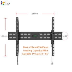 Image 1 - Наклонный настенный кронштейн для телевизора, подставка для ЖК монитора 32 65 дюймов, плоский экран, ТВ s с VESA до 400*600 мм, грузоподъемность 88 фунтов