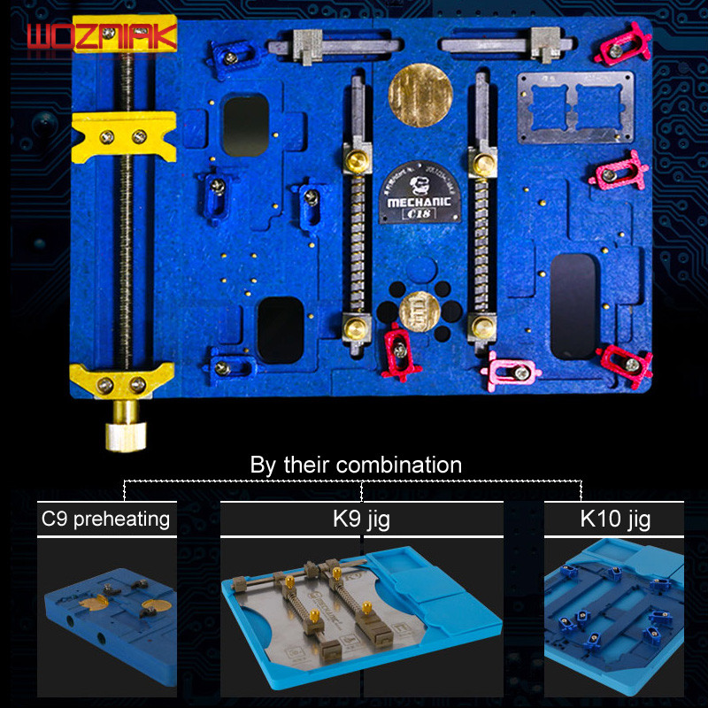 Wozniak C18 for Iphone x A11 6in1 Motherboard Chip Location Tin Plant Apart From Glue Preheat Platform Best Maintenance Tool