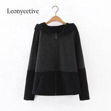 Lenoyeetive 2017 New Autumn Women Basic Jacket 2017 Spring New Black Solid Zipper Jacket Cool Short Coat  Biker Outwear