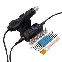8858 portátil bga estação de solda ar quente ventilador termoelétrico + ferramenta soldagem