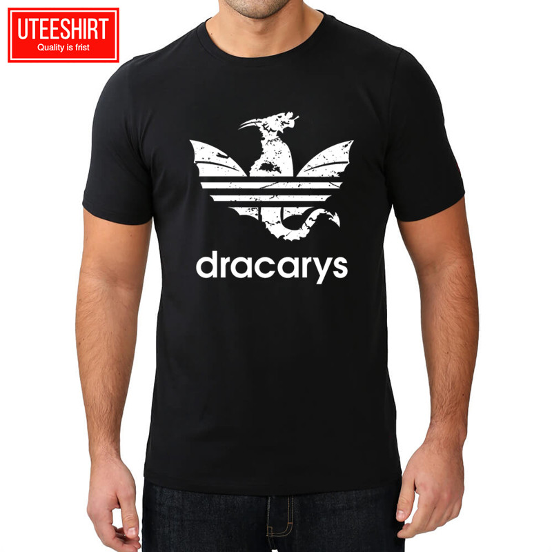 Men Game Of Thrones Cotton Print T-shirts 2019 Summer Unisex Dracarys Design Brand Tshirt Man Harajuku Streetwear,(China)