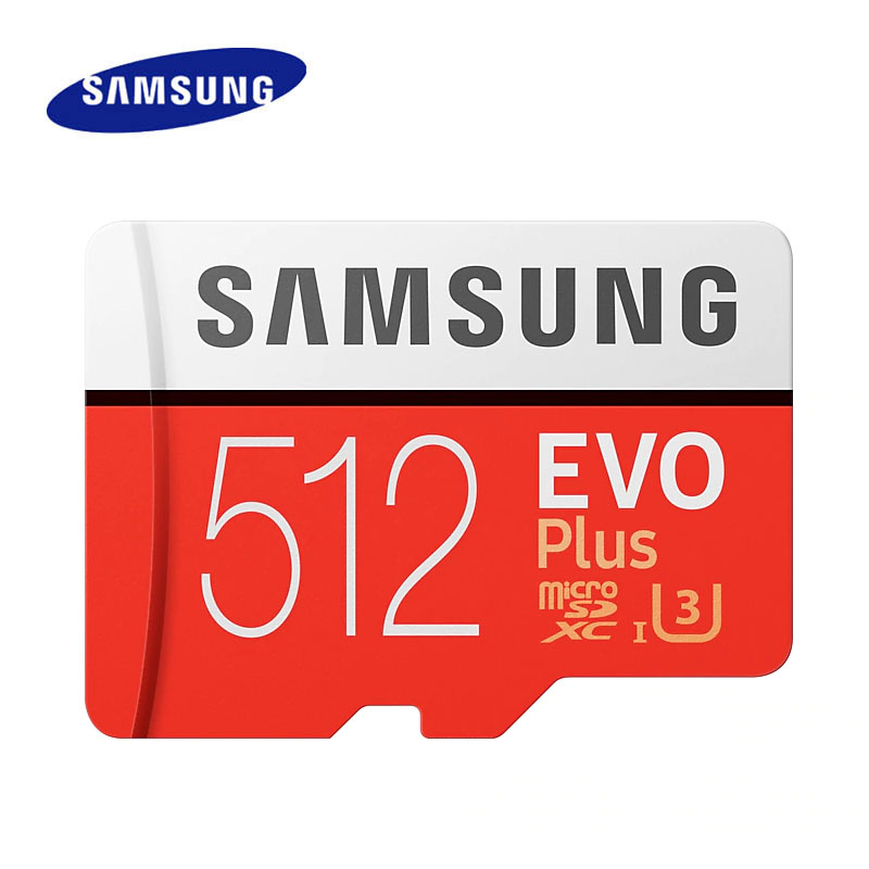 SAMSUNG Micro carte SD 512GB carte mémoire EVO Plus 512GB Class10 TF carte C10 microsd UHS-I U3 cartao de memoria flash mecard