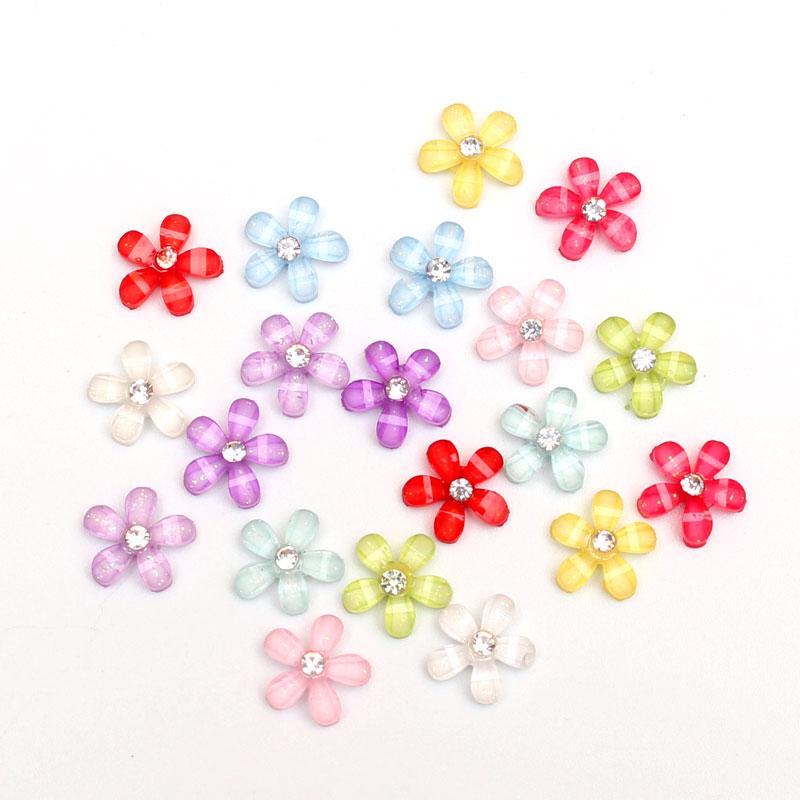 LF 100-50Pcs Resin Flowers 10x10mm Decoration Crafts Flatback Cabochon Embellishments For Scrapbooking Diy Accessories