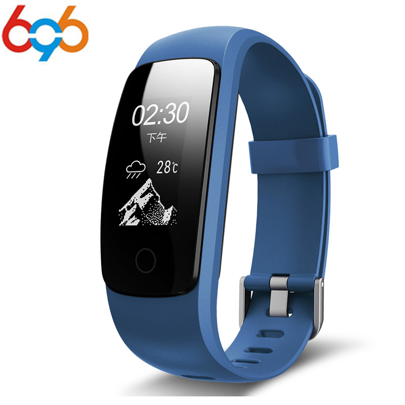 696 Orginal Smart ID107Plus HR Heart Rate Bracelet Monitor ID107 Plus Wristband Health Fitness Tracking For Android iOS Smart Wa