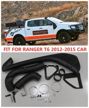 4*4  EXTERIOR PARTS LLDPE Snorkel KIT SET Air Intake Snorkel Kit Set FIT FOR RANGER T6  2012-2015 xlt Wildtrak  car accessories цена 2017