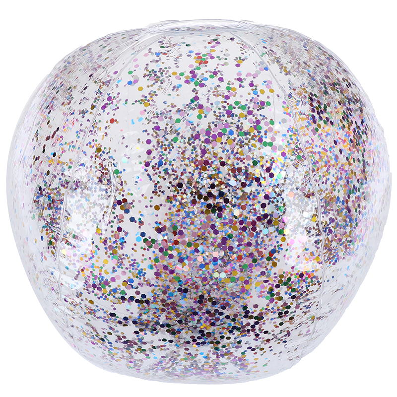 Bling PVC Inflatable Transparent Swimming Ball Toys Round Sequins Inside Beach Ball Swimming Pool Floating Children Outdoor Toy