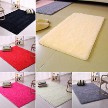Candy Color Soft Anti-Skid Carpet Flokati Shaggy Rug Living Bedroom Floor Mat(China)