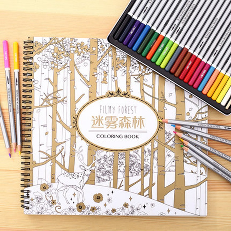 FILMY FOREST secret garden coloring doodle book 30 pages children adult friend birthday gift 27x28cmFILMY FOREST secret garden coloring doodle book 30 pages children adult friend birthday gift 27x28cm