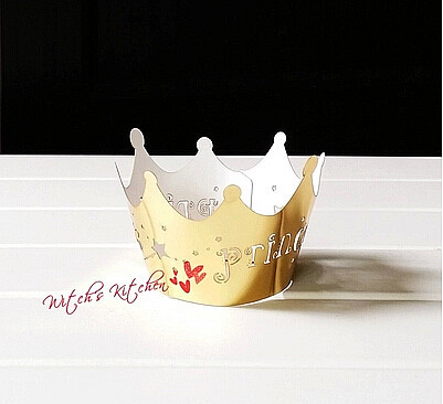 Free Shipping golden princess crown cake cup cupcake wrapper 1dec575520bd