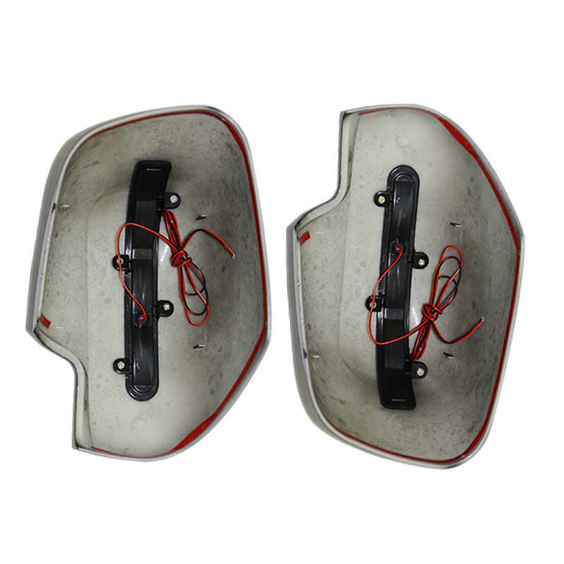 Светодио дный зеркало заднего вида покрытия автомобиля CHORME литье подходит для NISSAN NAVARA NP300 D23 2015-2017 зеркала планки стайлинга автомобилей