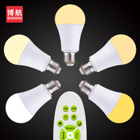 BOHANG Wireless Remote Control Dimmable 5W E27 Led Bulb 220V 3000 6500k Lamps Night Lights White warm white Neutral light