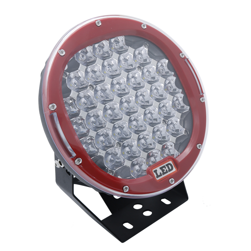 185w 9inch Red Black round led driving light 9 led off road light Super power led