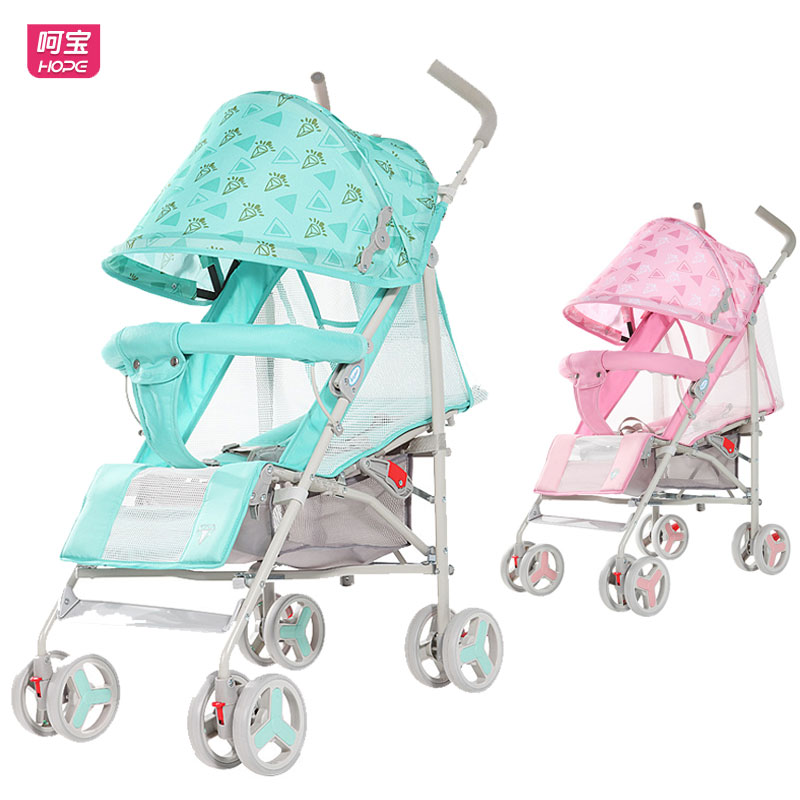 HOPE Summer Net Breathable Baby Carriage Lightweight Stroller Travel Portable Baby Cart Shock Absorber Lie Flat Baby Pram Buggy summer mosquito net travel folding portable four wheel cart carriage reversible car baby stroller lightweight pram pushchair