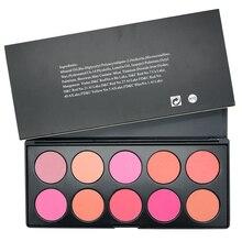 Women 10 Color Makeup Blush Face Blusher Powder Palette Cosmetics Hot Sale Brand Professional Naked Blush Maquiagem Professional