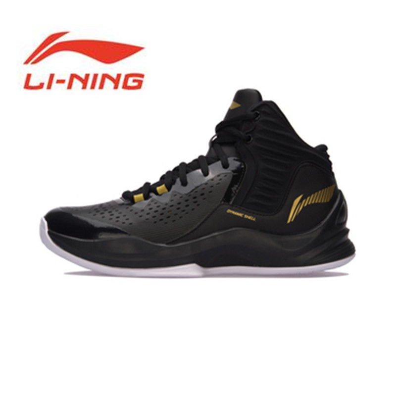 Li Ning Original Men Shoes Blitz Professional Basketball Shoes High Cut Race Wearproof Sneakers Li Ning Sports Shoes ABPM031 li ning men s professional basketball shoes dmx breathable dynamic shell sound v td series sports sneakers abpm005