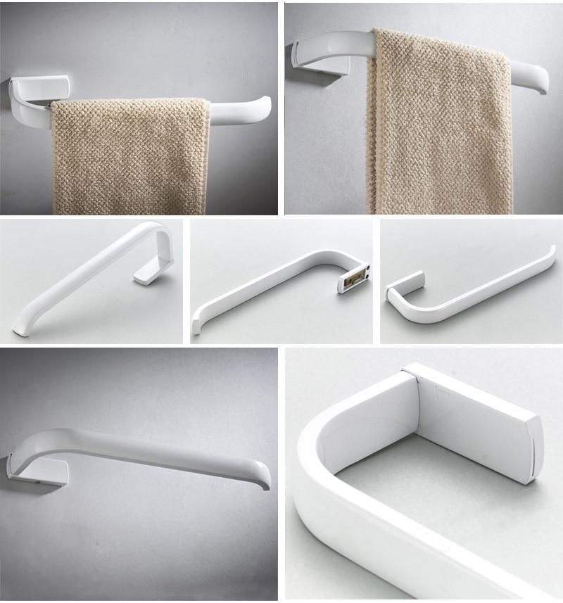 towel ring Bar holder white 2