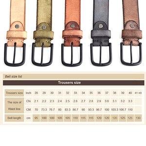 Image 5 - MEDYLA עור מקרית עיצוב חגורה של עבור גברים ג ינס מכנסי קזואל גברים של חגורת עור גברים של מתנות אורך של 130cm רחב 3.8cm