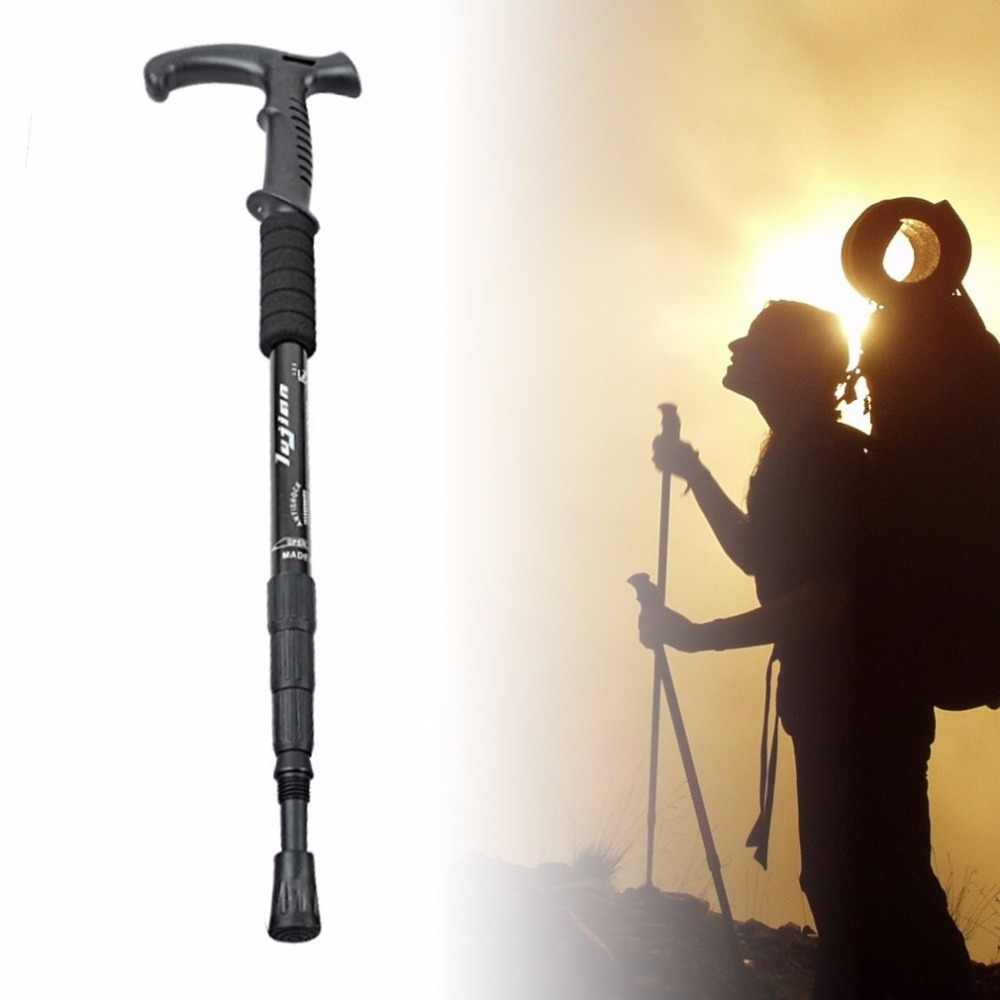 Retractable Anti Shock Tongkat Teleskopik Trekking Hiking Poles Ultralight Olahraga Camping Pendakian Gunung Tongkat Kruk Baru