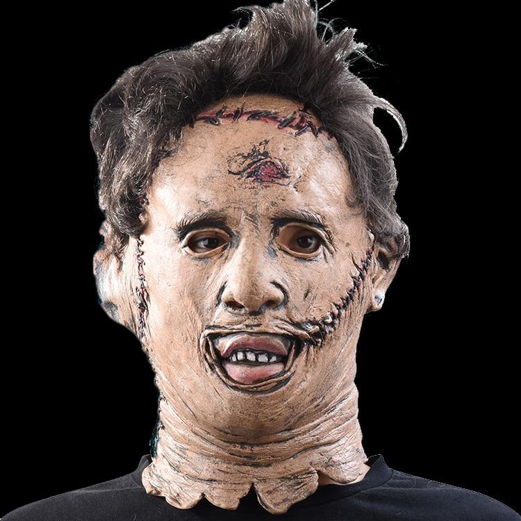 Die Texas Chainsaw Massacre Leatherface Masken Scary Movie Cosplay Halloween Kostüm Requisiten Hochwertigen Spielzeug Party Latex maske
