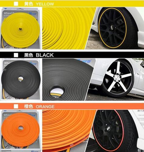 8m Car Styling Wheel Hub Tire Stickers For Audi A5 9T A6 C7 C8 A7 4G 5G A8 D4 D5 RS 5 RS6 C6 C7 RS 7 S5 8T 9T S6 C7 S7 4G S8 D4(China)