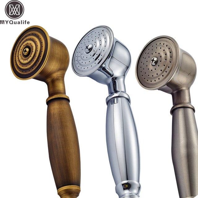 送料無料浴室の真鍮ハンドシャワーヘッドシャワー蛇口 Handshower 交換スプレーヘッド