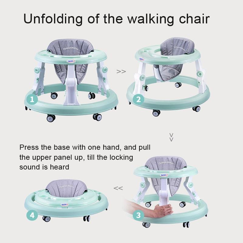 Nombre. A bébé marcheur poussette marche bébé premiers pas voiture pliante bambin chariot assis sur pied vélo enfants tricycle pour enfants - 2