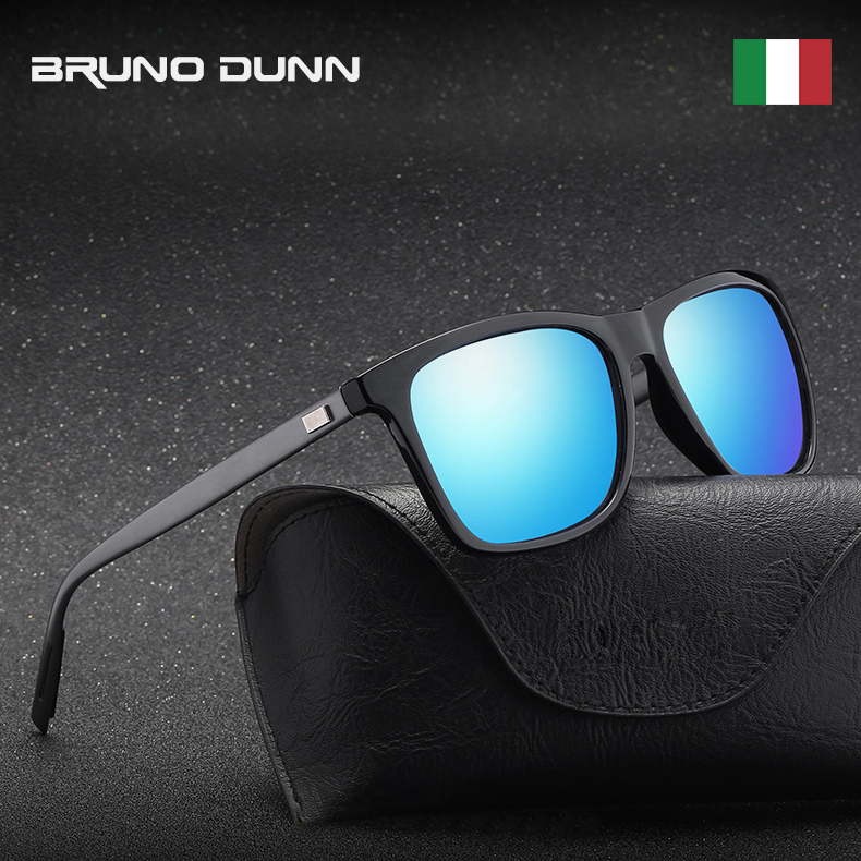 31817d6058 Bruno Dunn Unisex Retro Aluminum 2019 Sunglasses Polarized ray Sun Glasses  Men Women oculos de sol