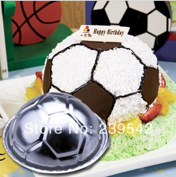 New 2pcs Free Shipping Soccer Ball 3d Sports Football Birthday Cake Pan Tin Mold Mould Aluminium Cake Tool Kitchen Supplies On Aliexpress