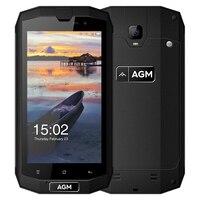 AGM Original A1Q 4G Smartphones 5.0 polegada Android 7.0 MSM8916 Quad núcleo 1.2 GHz 4 GB RAM 64 GB ROM OTG NFC IP68 À Prova D' Água Função