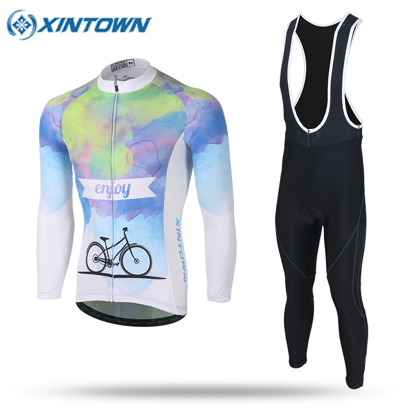 2017 Team Cyclisme Equipe Pro Cycling Clothing Bike Clothes Quick Dry Men Bicycle Clothes Long Sleeves Cycling Jerseys Sets