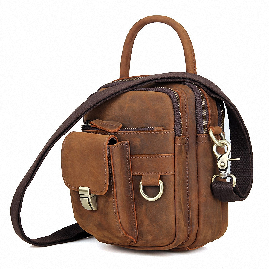 ФОТО New Guarantee 100% genuine leather men messenger bags casual small shoulder bags for men cross body travel phone bags LI-1649